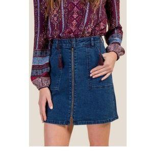 NWOT jean mini skirt